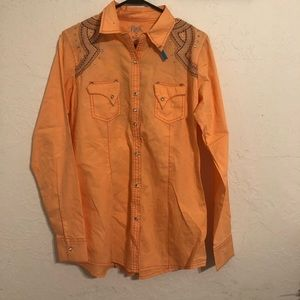 Coral Western Shirt